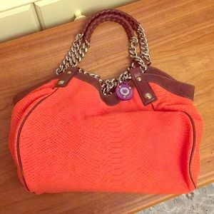 Henri Bendel medium size coral tote